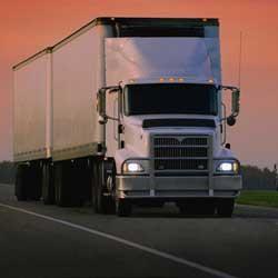 White Semi Truck