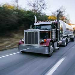 Maroon Semi Truck