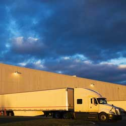 Docked Semi Truck